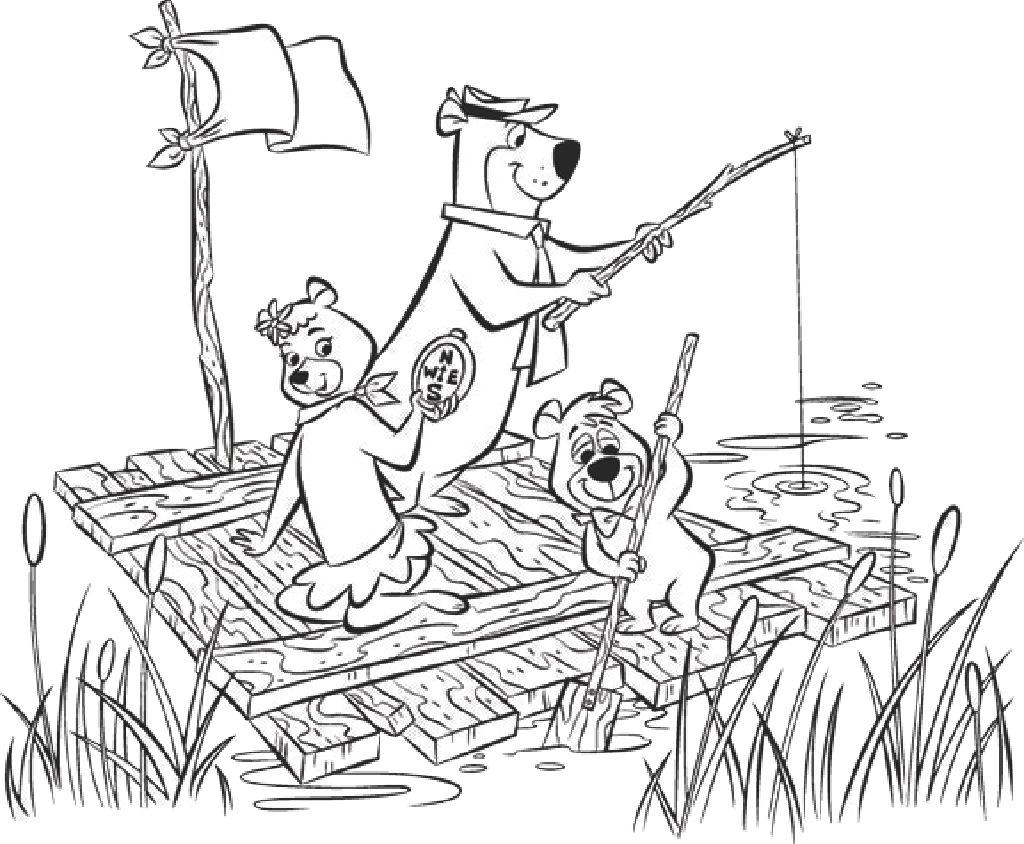 Yogi Bear Coloring Page Coloring Fun At Yonderhill Yogi Bears Jellystone Park At