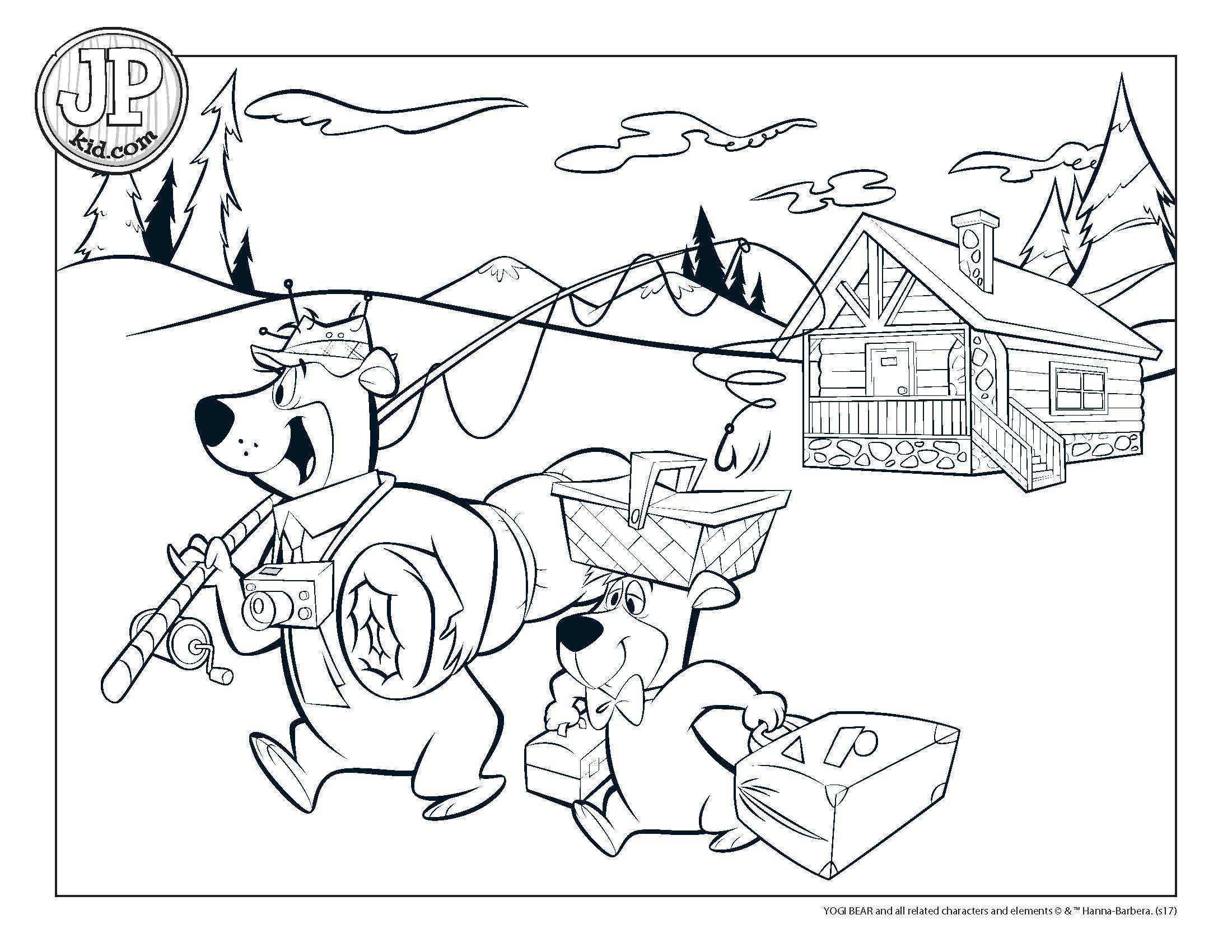 Yogi Bear Coloring Page Jpkid Coloring Page Campers Yogi Bears Jellystone Park Hill Country