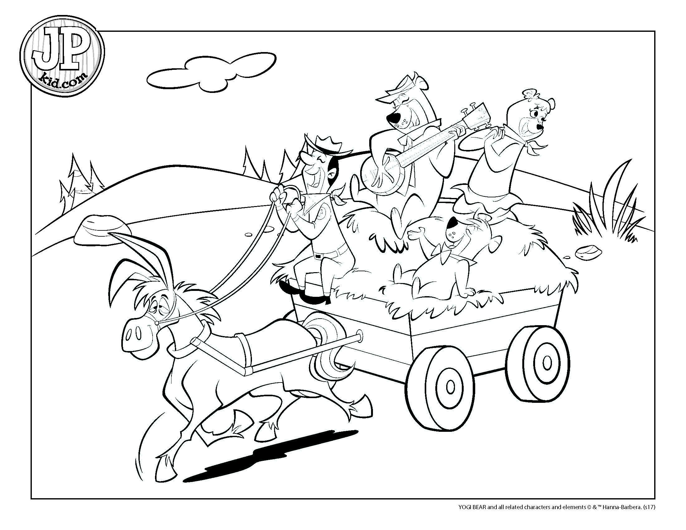 Yogi Bear Coloring Page Jpkid Coloring Page Heyride Yogi Bears Jellystone Park Tower Park