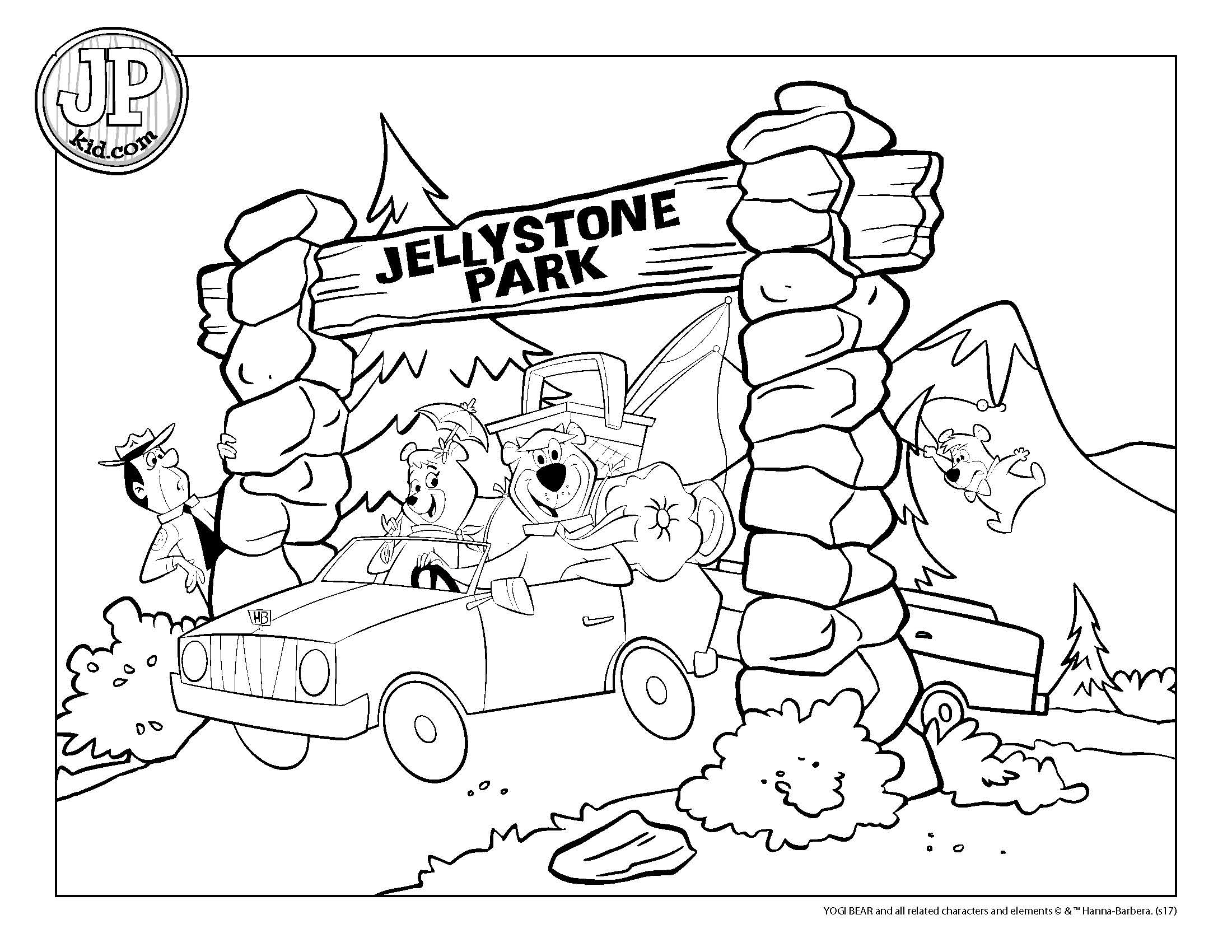 Yogi Bear Coloring Page Jpkid Coloring Page Thru Arch Yogi Bears Jellystone Park
