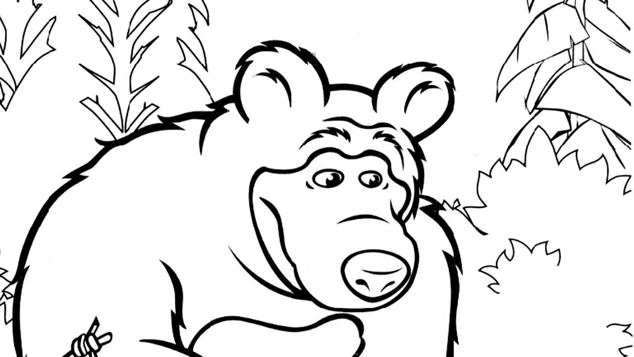 Yogi Bear Coloring Page Masha And The Bear Coloring Pages